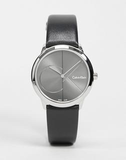 Calvin Klein - Schwarze Armbanduhr mit grauem Zifferblatt