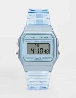 Casio - F-91WS-2EF – Digitale Armbanduhr in Blau