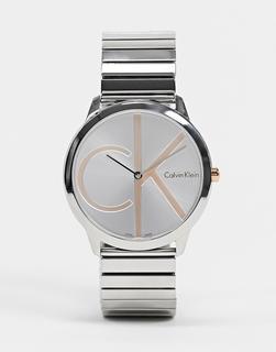 Calvin Klein - Uhr mit großem Logo-Silber
