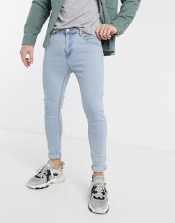 Bershka - Besonders enge Jeans in Hellblau