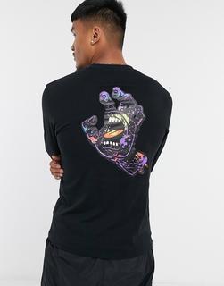 Santa Cruz - Langärmliges Shirt mit Hand-Print in Schwarz