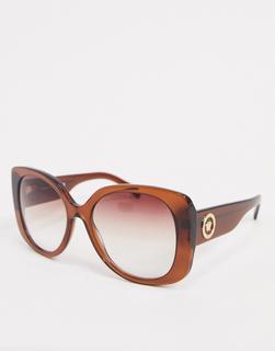 Versace - 0VE4387 – Eckige Oversize-Sonnenbrille in Braun