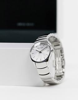 Calvin Klein - Uhr mit Armband in polierter Optik und silberfarbenem Zifferblatt