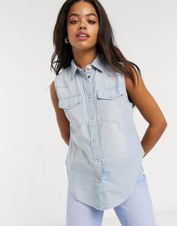 Lee Jeans - Lee – Ärmelloses Hemd in Sterlingblau