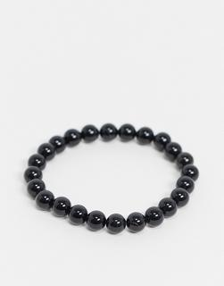 Aura - by Calum Best – Armband mit schwarzem Obsidian