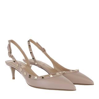 Valentino - Pumps - Rockstud Slingback Court Pumps Poudre - in rosa - für Damen