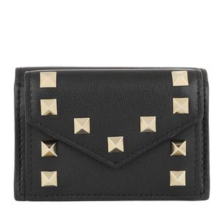 Valentino - Portemonnaie - Wallet Leather Black - in schwarz - für Damen