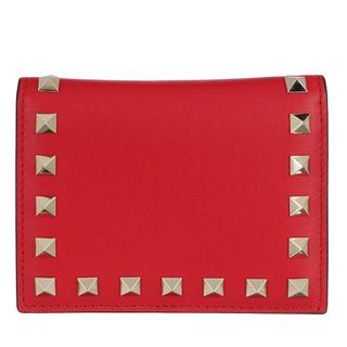 Valentino - Portemonnaie - Small Continental Wallet Leather Rouge Pure - in rot - für Damen