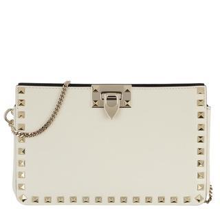 Valentino - Pochette - Clutch Leather Light Ivory - in weiß - für Damen