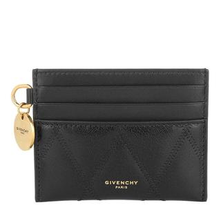 Givenchy - Portemonnaie - GV3 Card Holder Diamond Quilted Leather Black - in schwarz - für Damen
