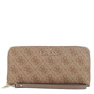 guess - Portemonnaie - Alby Large Zip Around Wallet Latte - in braun - für Damen