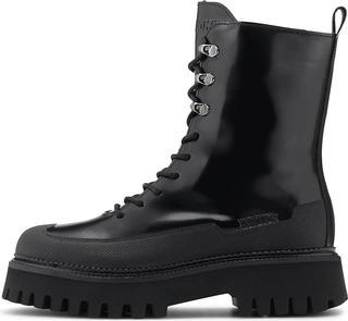 Bronx - Schnür-Boots Bx 1651-Groov-Y in schwarz, Boots für Damen