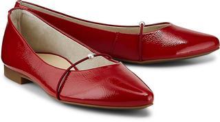 Paul Green - Lack-Ballerina in rot, Ballerinas für Damen