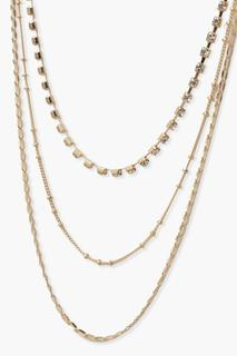 boohoo - Womens Three Layer Necklace - Metallics - One Size, Metallics