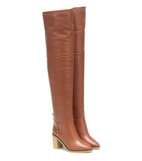Valentino Garavani - Overknee-Stiefel Rockstud aus Leder