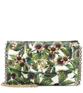 Dolce & Gabbana - Bedruckte Clutch aus Leder