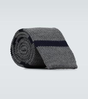 Brunello Cucinelli - Gestreifte Krawatte aus Wolle