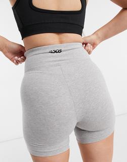 ASOS 4505 - Icon Booty – Kurze Leggings in Baumwoll-Qualität-Grau