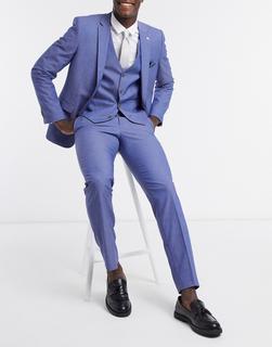 Farah - Schmal geschnittene Anzughose in Blau