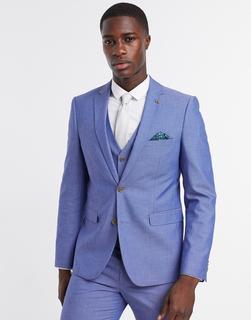 Farah - Schmal geschnittene Anzugweste in Blau