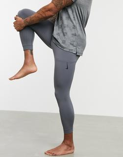 Nike Training - Nike – Yoga Infinalon – Graue Leggings