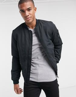 Only & Sons - MA1-Bomberjacke in Schwarz