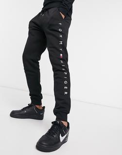 TOMMY HILFIGER - Jogginghose mit Bündchen und Logo in Schwarz