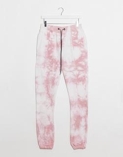 Night Addict - Jogginghose mit rosa Batikmuster, Kombiteil