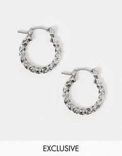 Reclaimed Vintage - Inspired – Silberfarbene Creolen für die Kollektion austauschbarer Anhänger