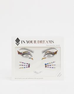 In Your Dreams - Halloween Onyx – Mettallic-Ziersteine fürs Gesicht-Schwarz