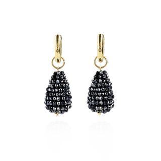 LOTT.gioielli - Ohrringe - Glasberry Cone XS  Metallic Blue Gold - in marine - für Damen