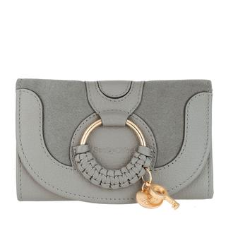 See by Chloé - Portemonnaie - Compact Wallet Leather Skylight - in grau - für Damen