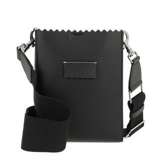 MM6 Maison Margiela - Umhängetasche - Synthetic Leather Shopping Bag Black - in schwarz - für Damen