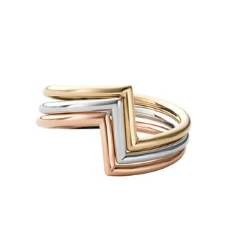 Miansai - Ring - Arch Ring Set Polished Silver/Rose/Gold - in bunt - für Damen
