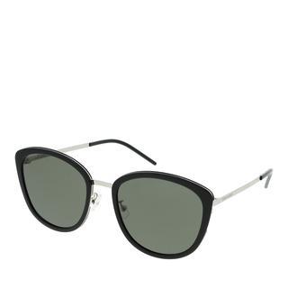Saint Laurent - Sonnenbrille - SL 377/K SLIM-001 56 Sunglass WOMAN META Silver - in schwarz - für Damen