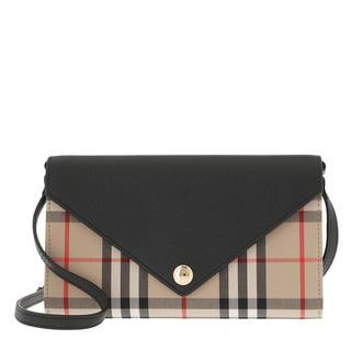 Burberry - Umhängetasche - Vintage Check Crossbody Leather Black - in schwarz - für Damen