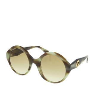 Gucci - Sonnenbrille - GG0797S-003 54 Sunglass WOMAN ACETATE Havana - in grün - für Damen