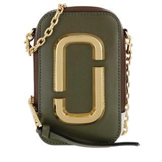 Marc Jacobs - Umhängetasche - The Hot Shot Shoulder Bag Leather Classic Brown/Multi - in bunt - für Damen
