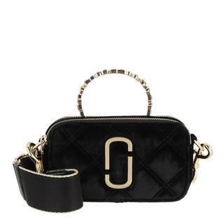 Marc Jacobs - Umhängetasche - The Snapshot Velvet Gem Crossbody Bag Black - in schwarz - für Damen