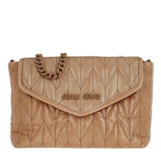 Miu Miu - Umhängetasche - Shoulder Bag Leather Beige - in beige - für Damen