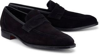 Crockett & Jones - Slipper Teign in schwarz, Business-Schuhe für Herren