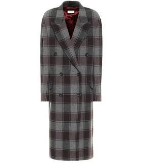 Dries Van Noten - Karierter Mantel aus Wolle