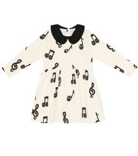 Mini Rodini - Kleid Note aus Baumwoll-Jersey