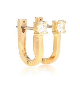 Melissa Kaye - Ohrringe Aria U aus 18kt Gelbgold mit Diamanten
