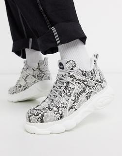 Buffalo - Cloud – Sneaker mit dicker Sohle und Schlangenmuster-Mehrfarbig