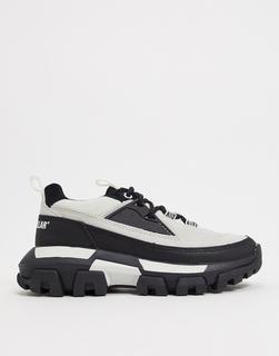 Cat Footwear - CAT – Raider – Flache Sneaker zum Schnüren in Schwarz und Weiß