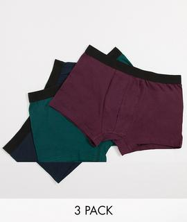 New Look - 3er-Set Boxershorts-Mehrfarbig
