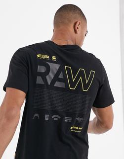 G-Star - Raw – T-Shirt mit Grafik auf der Rückseite in Schwarz