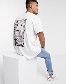 Night Addict - T-Shirt mit Aufdruck hinten-Weiß