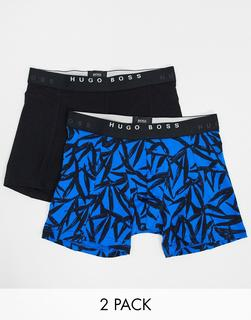 Boss - Bedruckte Boxershorts, 2er-Pack-Blau